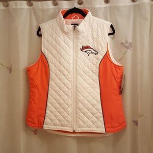 Denver Bronco quilted vest